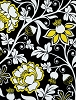 Taxi by Alice Kennedy Collection Floral Cotton Fabric Print by the Yard (Trio-C1339-Black)