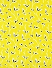 Cotton Vines Leaves Stems Plants Botanical Climbing Plant Creeper Rambler Garden Gardening Spring Taxi by Alice Kennedy Floral Yellow Cotton Fabric Print by the Yard (Trio-C4068-Yellow)