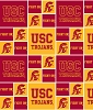 Cotton University of Southern California USC College Team Cotton Fabric Print (usc-020)