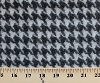 Wool Coating Houndstooth Check Black/Off-White 45
