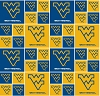Cotton University™ of West Virginia Mountaineers College Cotton Fabric Print - swv020s