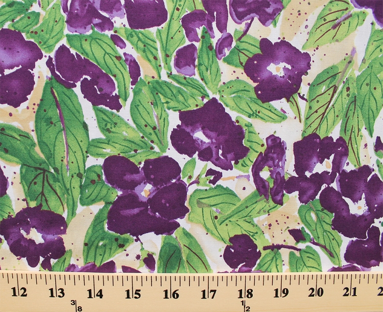 Cotton Orchids Flowers Branches Vines Buds Plants Cream Fabric Print By The Yard Orchid C3209