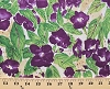 Cotton Violets Flowers Splattered Painting-Look Painted Floral Garden Gardening Purple Blossoms Blooms Botanical Cultivate Your Joy Cotton Fabric Print by the Yard (y1435-27)