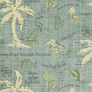 Tommy Bahama® Island Song Fabric by the Yard - Surf