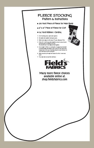 Fleece Stocking Christmas Stockings Pattern & Instructions for Fleece Prints and Solids