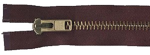 Solid Brass Heavy-Duty Chaps Metal Separating Zippers by YKK®