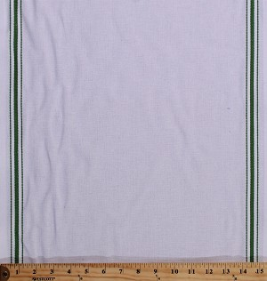 "Cotton Toweling 15.75"" White With Green Borders Kitchen Towels Baking Cooking Towel Toweling By the Yard (920-176Wht/Green)"