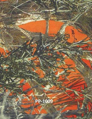 Satin True Timber Bridal Blaze Orange MC2 Camouflage Satin Fabric Print by the Yard (PP1009-593)