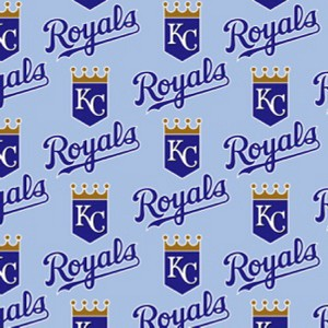 **Imperfect** Cotton Kansas City Royals on Blue MLB Baseball Sports Team Cotton Fabric Print by the Yard (s6641bf)