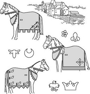 Suitability 9130 Medieval Horse Costume Pattern (With Rump Cover) Equestrian Sewing Pattern
