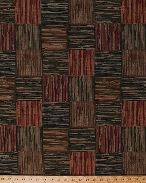 58 Tapestry Plaid Green Rust Red Brown Gold Home Decor