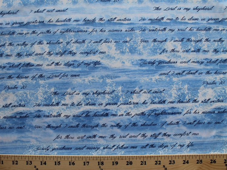 Cotton Bible Study I Amp Ii Psalm 23 Bible Verse Ocean Waves