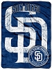 San Diego Padres MLB 46x60 Micro Raschel Fleece Fabric Throw