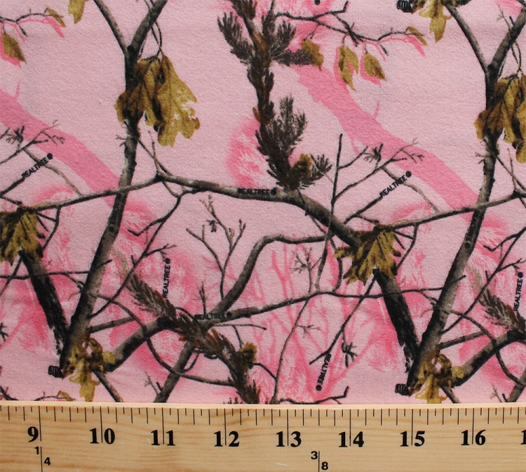 Flannel Realtree Camouflage Camo Leaves Tree Branches Pink