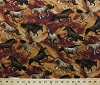 Cotton Horses Stallions Galloping Western Southwestern Animals Cowboys Ranch Round Up Cotton Fabric Print by the Yard (112-26421)