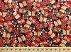 Cotton Christmas Presents Gifts Holly Leaves Berries Holidays Festive Santa Packages Red and Green Cotton Fabric Print by the Yard (11349-green)