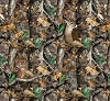 Fleece (not for masks) Realtree Camo Deer Camouflage Hunting Fleece Fabric Print by the Yard a1427s
