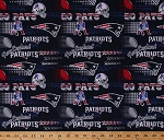 Cotton New England Patriots Retro NFL Pro Football Cotton Fabric Print by the Yard (14447D)