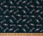 Flannel Philadelphia Eagles NFL Professional Football Sports Team Flannel Fabric Print by the yard (14935D)