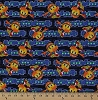 Cotton Pac-Man Pac Man Arcade Video Game Gaming Gamers Pac-Dots Biscuits Power Pellets Maze Mazes Blue Yellow Kids Cotton Fabric Print by the Yard (25342-mul1)