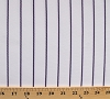 Pinstripe White and Purple Athletic Jersey Knit Fabric by the Yard - D331.12