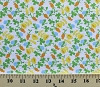 Briar Rose Jersey Flowers Buds Blue Cotton Jersey Knit Fabric by the Yard (37027j-1)