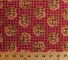 Cotton Chocolate Chip Cookies on Cooling Rack Baking Bakery Food Snacks Sweets Kitchen In the Mix Red Cotton Fabric Print by the Yard (37469-1)