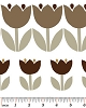 Cotton Brown Tulips Flowers Floral Blossoms Blooms Garden Gardening Spring Palm Springs White Cotton Fabric Print by the Yard (03961-70)