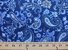 Blue Clues Flower Paisley Swirls on Blue Cotton Fabric Print by the Yard (3993-47993-Blue/Dark)