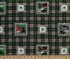 Cotton John Deere Farm Scene Patch Plaid Green Cotton Fabric Print by the Yard (40337-2160715)