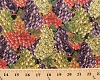 Cotton Italian Vineyards Grape Bunches Fruit Black Cotton Fabric Print by the Yard (4097-black)