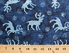 Cotton Balinese Writer Wishes Batik Reindeer Dark Blue Cotton Fabric by the Yard (4219-417)
