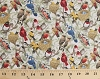 Cotton Housing Boom Birds Branches Nests Eggs Leaves Allover Cream Cotton Fabric Print by the Yard (4320-cream)