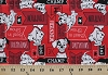 Cotton Disney 101 Dalmatians Puppy Puppies Dogs Signs Red Cotton Fabric Print by the Yard (50585-d650715)