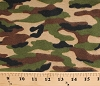 Flannel Camo Camouflage Army Green Cotton Flannel Fabric Print (5251-33)