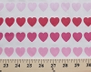 Pink/Red Hearts Allover White Poly Cotton Fabric by the Yard (5599h-7k)