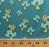 Cotton Mushrooms Snails on Toadstools Fungus Fungi Animals Polka Dots Blue Whoo Me? Kids Children's Blue Cotton Fabric Print by the Yard (6280-11)