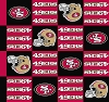 Fleece San Francisco 49ers NFL Boxes Squares Football Fleece Fabric Print by the yard (s6387df)