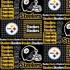 Cotton Pittsburgh Steelers Squares NFL Pro Football Cotton Fabric Print
