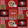 Cotton San Francisco 49ers Squares NFL Pro Football Cotton Fabric Print