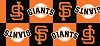 San Francisco Giants MLB Boxes Squares Baseball Sports Fleece Fabric Print