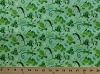 Cotton Green Animals Turtles Lizards Frogs Snails Bees Grasshoppers Ants Caterpillars Butterflies Butterfly Insects Bugs Creatures Nature Wildlife G is for Green Kids Green Cotton Fabric Print by the Yard (6817g-3l)