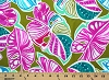 4-way Stretch Spandex Tropical Leaves Botanical Leafy Pink Green Blue 58