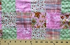 Cotton Pink Green Floral Plaid Unquilted Patchwork Fabric Print (7403E-8L)