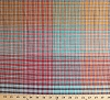 Brushed Cotton Multi Plaid Squares Cotton Fabric Print by the Yard (7442r-8l)