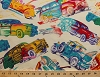 Cotton Colorful Cars Vehicles Vintage Automobiles Cream Cotton Fabric Print by the Yard (7442r-8l)