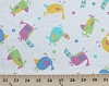 Lightweight Cotton Blend Jersey Knit Multi Birds White Fabric by the Yard (7586f-10l)