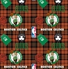 Fleece Boston Celtics Plaid NBA Basketball Pro Sports Team Fleece Fabric Print by the yard s82bos00005ac
