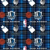 Fleece Dallas Mavericks Plaid NBA Basketball Pro Sports Team Fleece Fabric Print by the Yard (s82dal00005ac)