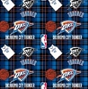 Fleece Oklahoma City Thunder Plaid NBA Basketball Pro Sports Team Fleece Fabric Print by the yard (s82okc00005ac)